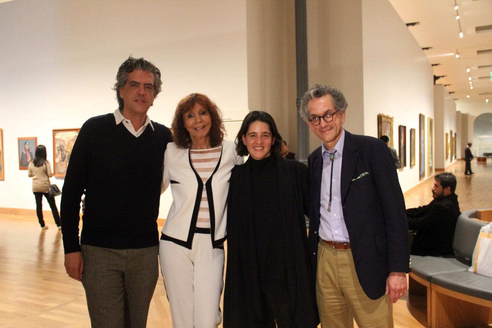 Paulo Dam, Kristin Feireiss, ganadora Mariana Leguía y Guy Nordenson