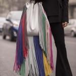Declaración de moda en las calles de Milan